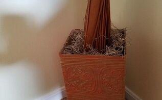 cardboard box vase