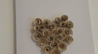 , The roses I put on a canvas but could easily be put on the heart form