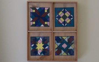 Painted Barn Quilts for the Inside of My Home