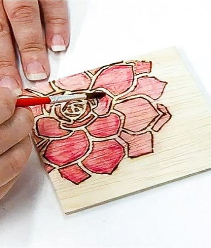 custom coasters from scrap plywood