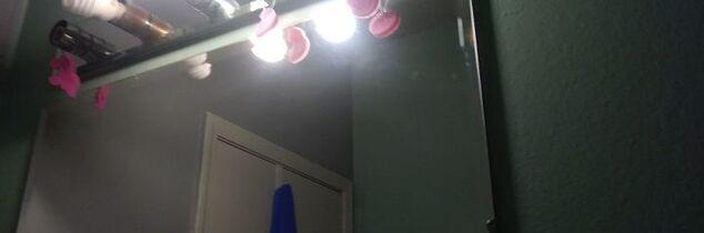 q fabric covering hollywood bathroom light fixture fire hazard