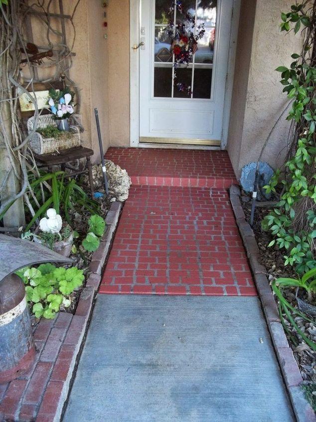 faux brick walkway