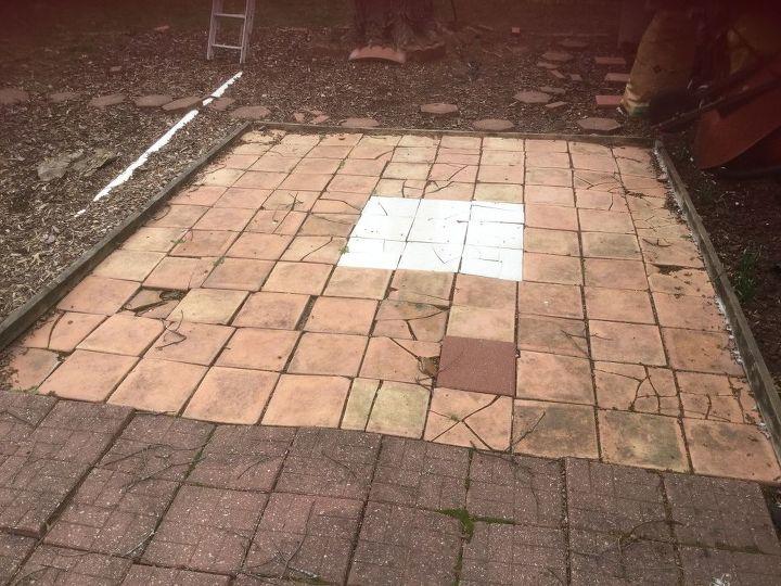 q how can i fix broken patio tile