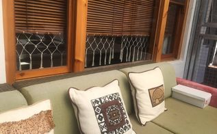 making the most of repurposed wooden blinds