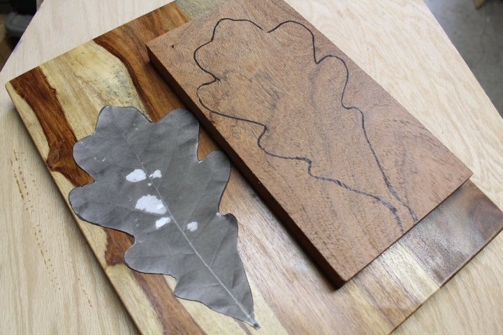 hand carved leaf shaped tray