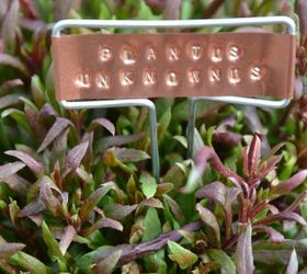 Hand Stamped Copper Garden Markers