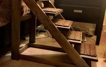 doggie stairs with style diy, Carpet added to prevent slipping