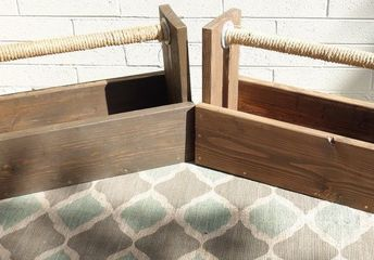 planter boxes stained with dixie belle voodoo gel stain