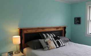 upcycled shutter headboard plus more