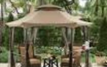 q what is most economic way to put a gazebo over grass