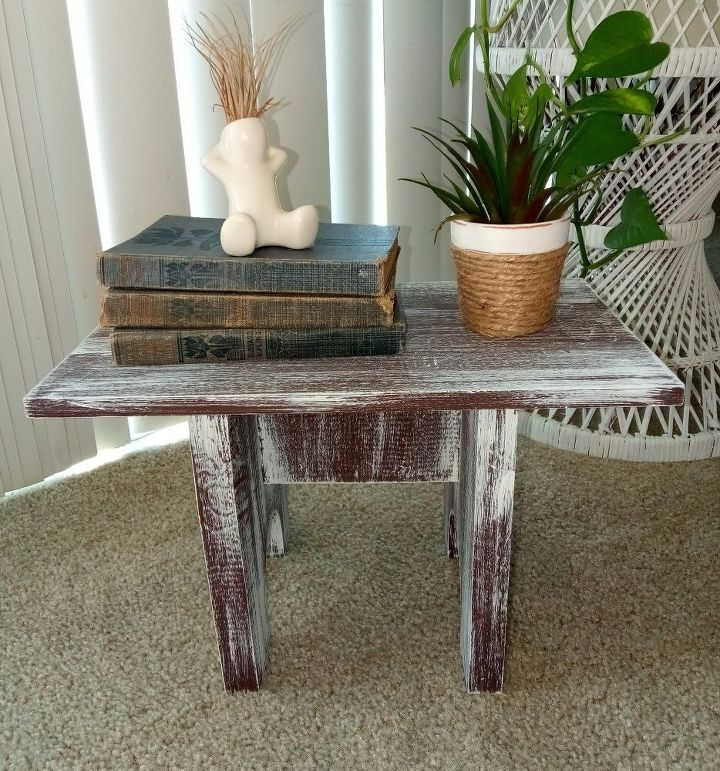 wooden stool makeover