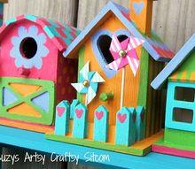 tiny birdhouses for spring decor