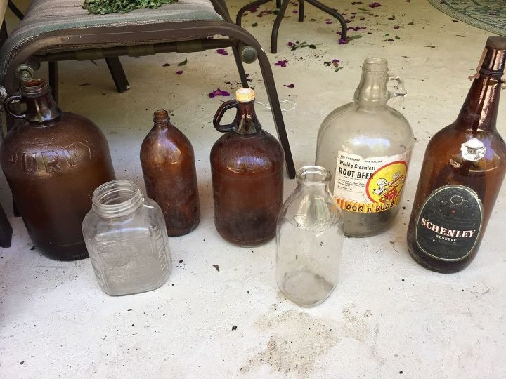 q what to do with old jugs jars and bottles