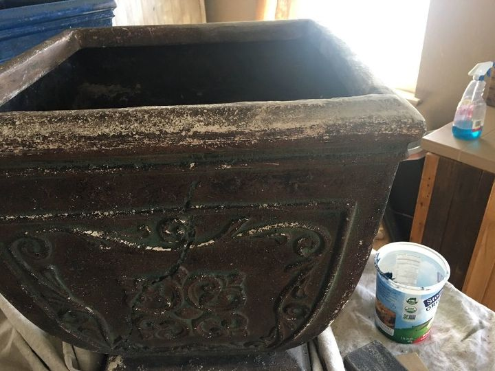 planter repair and new home