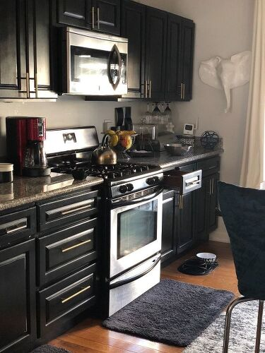 this upper cabinets love doing in cabinet my top kitchen with bottom brown the white dark