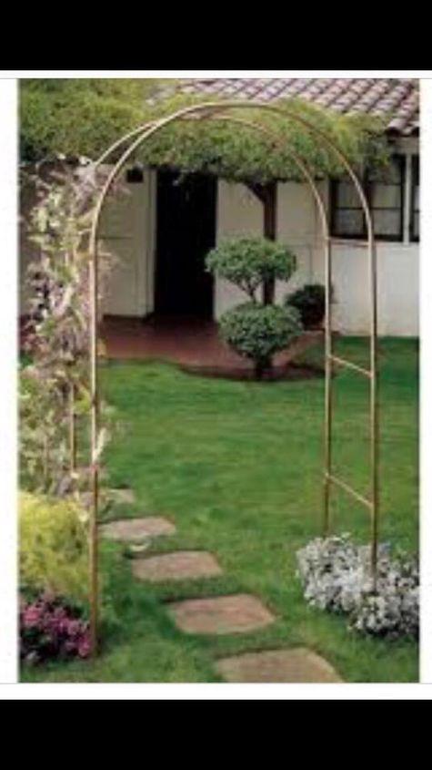 q a sturdy copper pipe garden arch