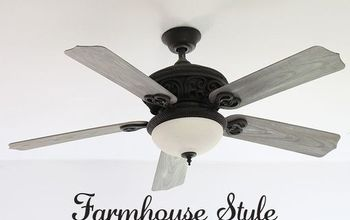diy ceiling fan makeover farmhouse style