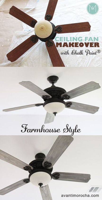 Diy Ceiling Fan Makeover Farmhouse Style