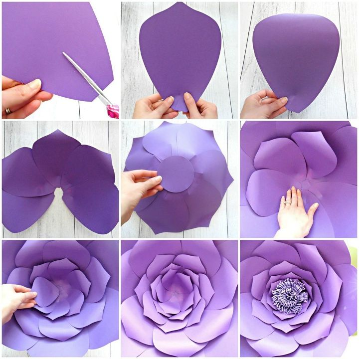 Easy diy giant paper flowers hometalk easy diy giant paper flowers mightylinksfo