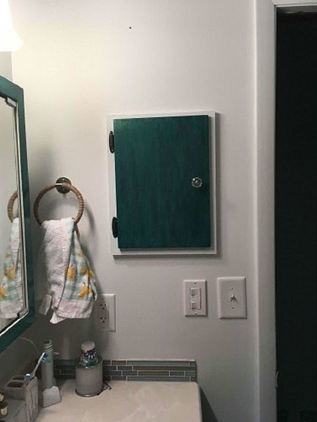 custom bathroom nook with unicorn spit and my grandma s crystal knob