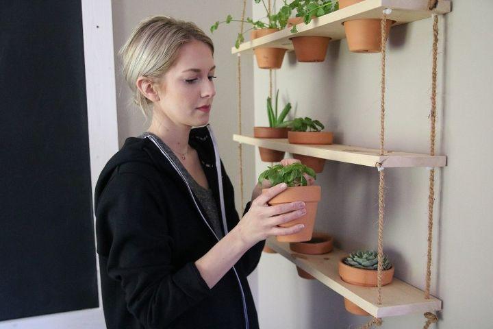 diy hanging herb garden