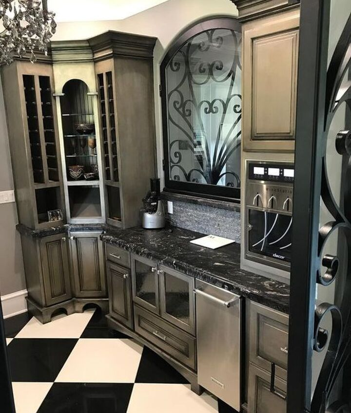 just add metallic paint beautiful cabinets with modern masters