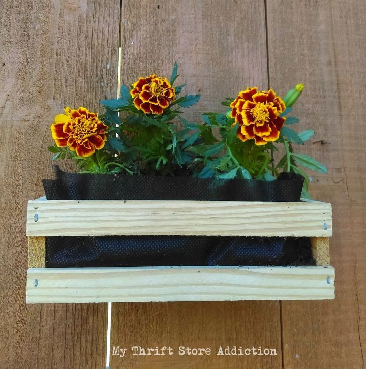 earth day inspired mini crate garden planters