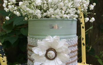 Rustic Tin Vase On a Budget