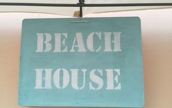 Textured and Weathered Beach Sign
