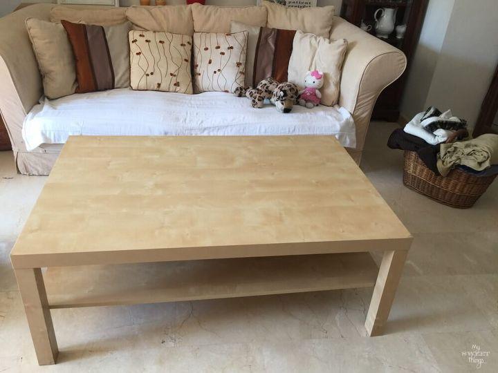 Ikea lack coffee table hometalk - Ikea table lack ...