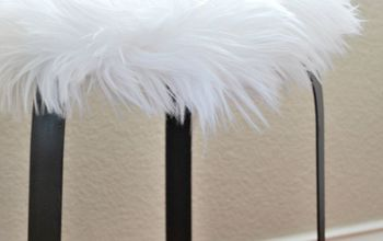 How to Make a Faux Fur Side Table