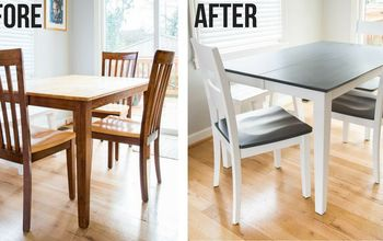 From Dated Brown to Fresh Gray and White!