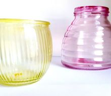 tinted candle holders