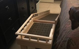 puppy love diy dog ramp for bedroom, They loved it