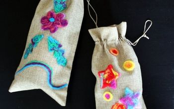 Needle Felted Wine Bags DIY for Gift Giving