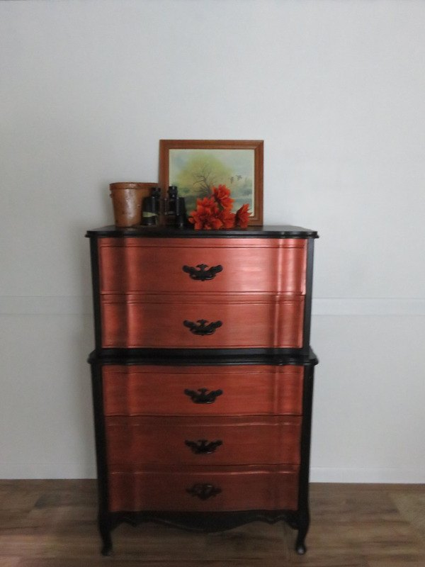 pretty french provincial chest on chest named penny