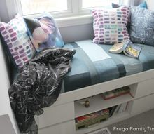 how to make a simple window seat cushion from reclaimed denim jeans