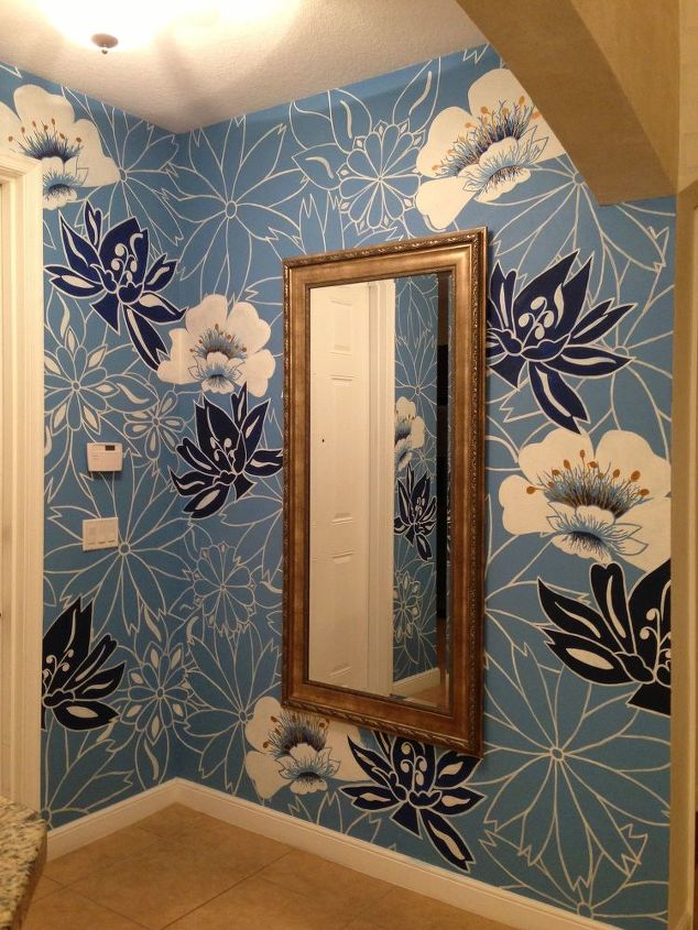 s 15 unbelievable ways people paint their walls, They reproduce a favorite wallpaper