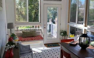 porch transformed to a sunroom