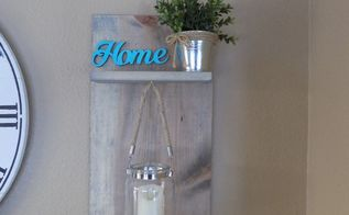 diy wall sconce with a shelf
