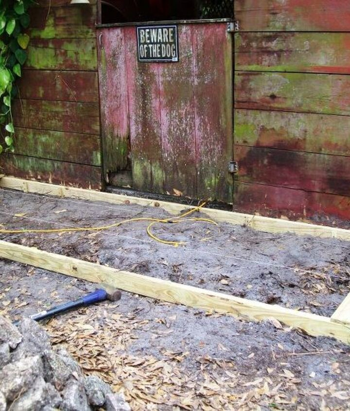 replacing front gate and walkway