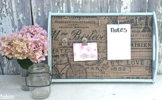 give a thrift store tray a new life
