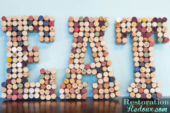 s 15 clever repurposing ideas that will add some creativity to your home, Some stunning wine cork letters