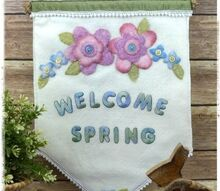 diy spring felt banner