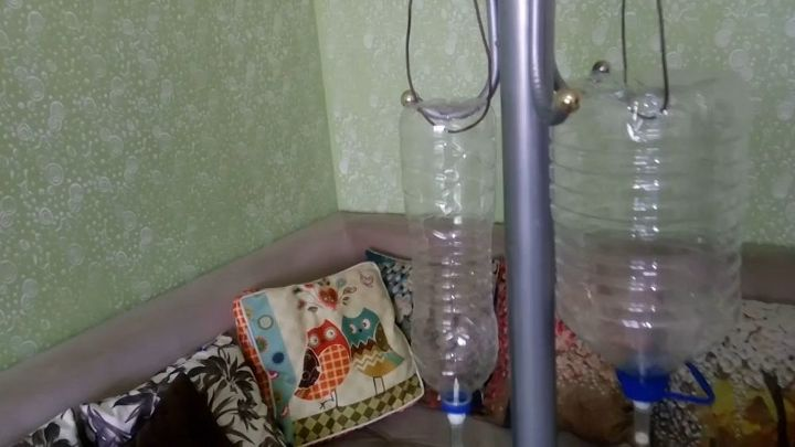 watering with infusion set