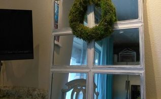 dollar tree chic mirror and wreath