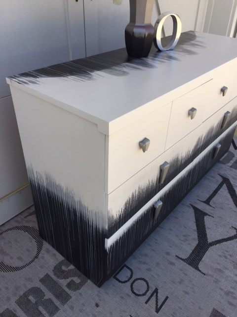 drip technique with dixie belle paint