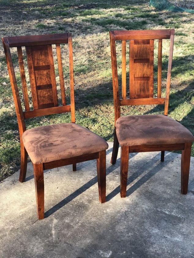 how to reupholster kitchen chairs hometalk. Black Bedroom Furniture Sets. Home Design Ideas