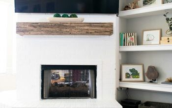 How To Paint A Brick Fireplace!