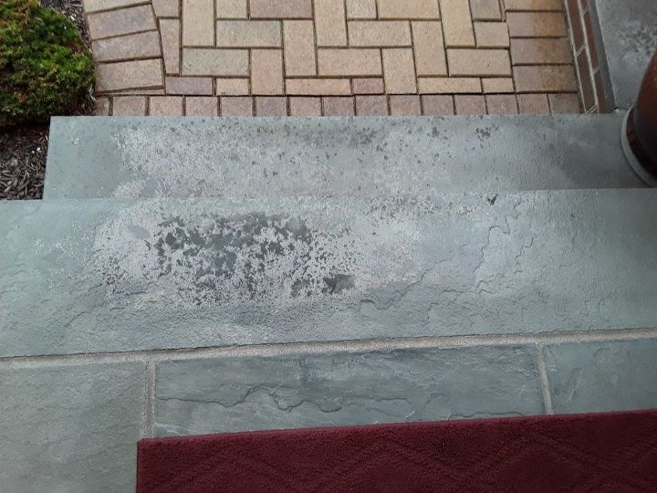 q how to remove stains and discoloration from bluestone